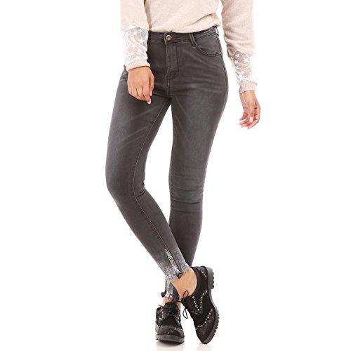 Gris La Femme Jeans Simple Modeuse Fonce Couple Cq7Xq6nw