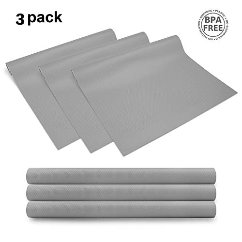 - Yachee 3 Rolls EVA Cabinet Liner, Non-slip Shelf Liners for Kitchen Cabinets, Waterproof Cupboard Drawer Cushion Mats, DIY Multipurpose Pads,17.7