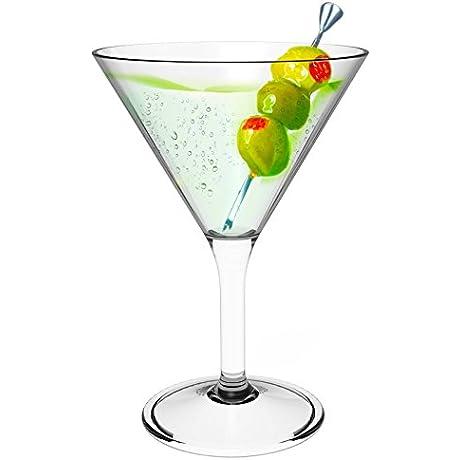 Stallion Barware Unbreakable Topaz Cocktail Glass 300ml Pack Of 6
