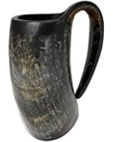 AleHorn 16oz Handcrafted Large Viking Cup Drinking Horn Tankard