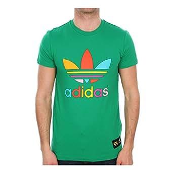 Adidas Mens X Pharrell Trefoil Mono Color Short Sleeve T-Shirt Green Size L