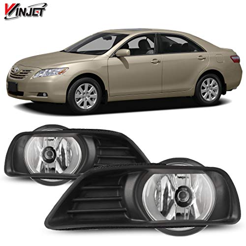 Winjet WJ30-0109-09 OEM Series for [2007-2009 Toyota Camry] Clear Lens Driving Fog Lights + Switch + Wiring Kit
