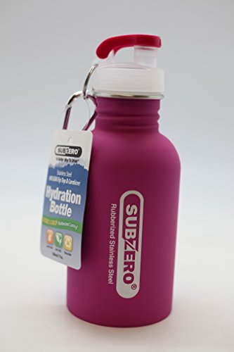 SUBZERO STAINLESS STEEL WATER BOTTLE EASY NO LEAK FLIP TOP 170Z (pink)