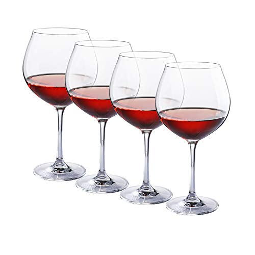 27 Ounce Wine - Red Wine Glasses - Crystal Glass - Lead Free - Wine Glasses Set of 4 (27 Ounce)