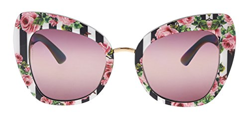 Dolce & Gabbana Women's Rose Cat Eye Sunglasses, Rose/Pink Purple, One Size