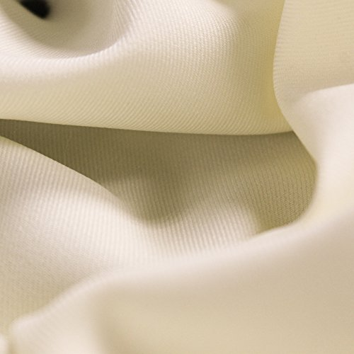Ivory Solid 60'' Poly Gabardine Fabric by the Yard