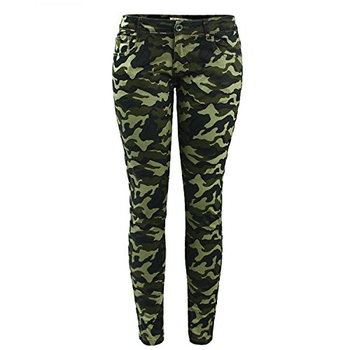 Mary Steele Army Green Skinny Jeans For Women Camouflage Cropped Pencil Pants Camo (Sims 2 Jeans)