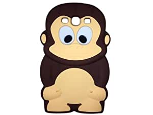 Cartoon Cute Monkey Silicone Case Cover for Samsung Galaxy S3 i9300 i9308 Brown