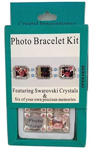 Crystal Innovations Photo Bracelet Kit Daisy Peridot Swarovski Crystal