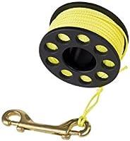 Finger Reel with Brass Clip Wreck Scuba Diving Tech Spool 3 Sizes, Medium 100 FT