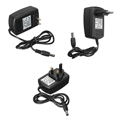 Muccus AC DC 12V 2A Power Supply Adapter Charger for CCTV Security Camera Plug Type: US