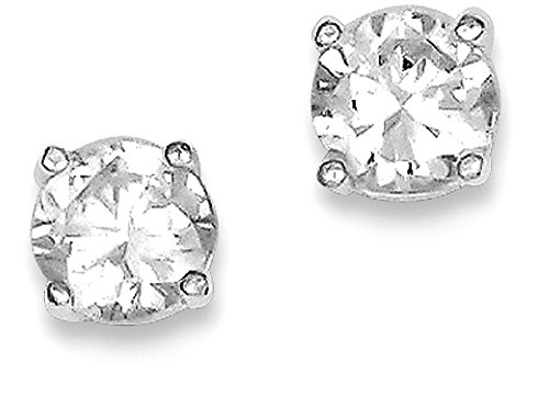 925 Sterling Silver Round Cubic Zirconia Cz 5mm Post Stud Earrings Fine Jewelry Gifts For Women For Her