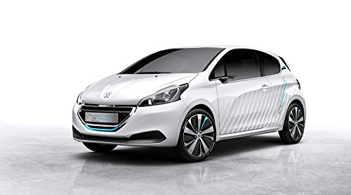 Peugeot 208 HYbrid Air 2L Concept (2014) Car Art Poster Print on 10 mil Archival Satin Paper White Front Side Static View 24