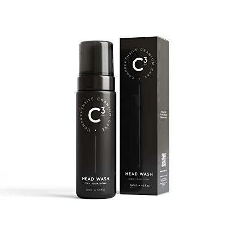 C3 Head Wash: Healing and Hydrating Sulfate-free, Lightly Fragranced Foam Cleanser for Bald, Shaved, and Buzzed Heads. Gentle, Irritation-Free Face and Scalp Care for Men and Women
