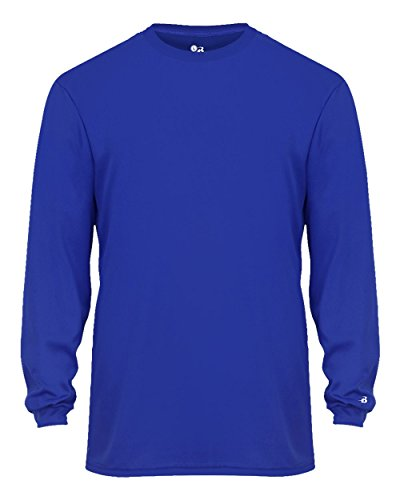 Royal Blue Adult XL Long Sleeve Performance Wicking Athletic Sports Shirt/Undershirt/Jersey