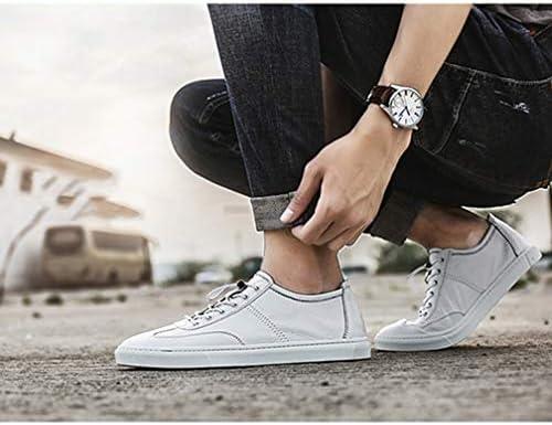 本革 メンズシューズ カジュアルシューズ 白の靴 メンズ デッキシューズ スケートボードシューズ レースアップ レザー スニーカー 通勤 通学 柔軟 韓国風 ローカットスニーカー 小さいサイズ トレント