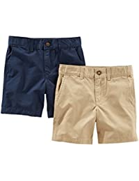 Toddler Boys' 2-Pack Flat Front Shorts