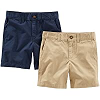Simple Joys by Carter's Baby Boys' Toddler 2-Pack Flat Front Shorts