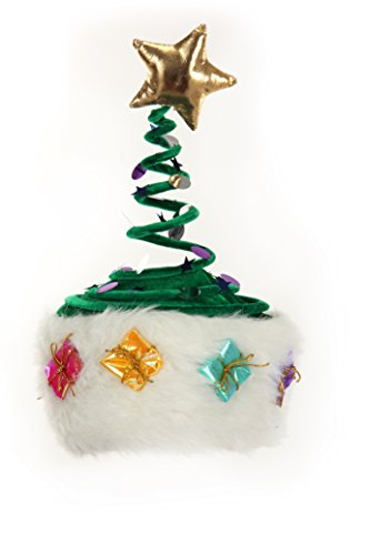 Elope Deluxe Springy Christmas Tree Hat