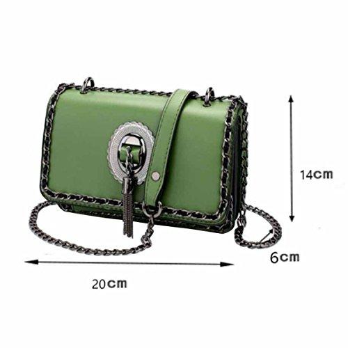Bolso De La Mujer Tassel Messenger Fashion Chain Small Square Package,D E  ...