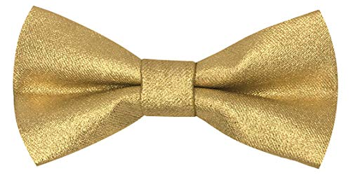 - CD Kids Bow Tie | Toddlers Adjustable Bowtie | Accessories for Boys and Girls (Metallic Gold, Kids)