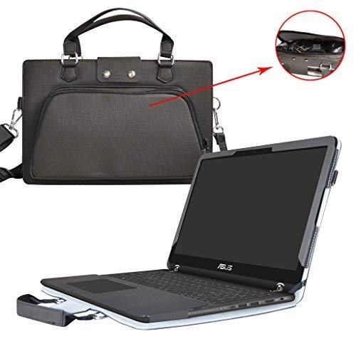 ASUS q534ux q524ux q504ua q524uq Caso, coustom designed Protective PU Cover + asa bolsa portátil con correa de hombro para...