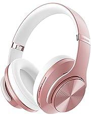 DOQAUS Bluetooth Koptelefoon over ear, [tot 52 uur] Draadloze Koptelefoon met 3 EQ-modi, Dubbele 40 mm Drivers, Geheugen-eiwit-oorkussens en Ruisonderdrukking Geïntegreerde Microfoon voor Smartphone / PC / TV (Roségoud)