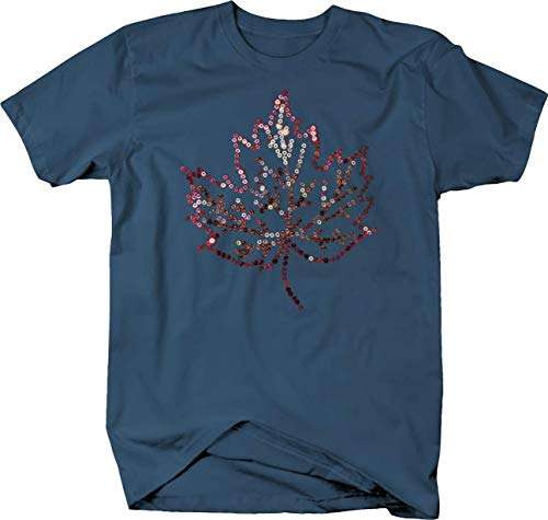 - Leaf Fall Spring Summer Trees Nature Wildlife Garden Tshirt - 2XL Denim