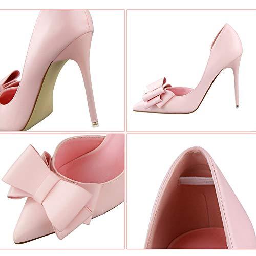 De à Robe Talons Club pointu femmes Shoes Hauts Soirée Mode Bout Slip Mariée talons Rose De pour Mode Stiletto Yudesun Bal Robe De De Robes On Chaussures Classique TdqBwT