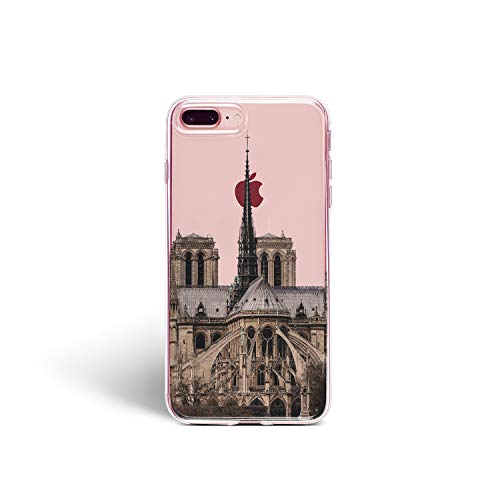 Notre Dame Silicone Case for iPhone 4 4S Durable Back Cover Protection Paris Cathedral (Notre Dame Iphone 4 Case)