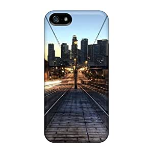 LUCKCom Design High Quality City Train Tracks Early In The Morning Cover Case With Excellent Style For Iphone 5/5s
