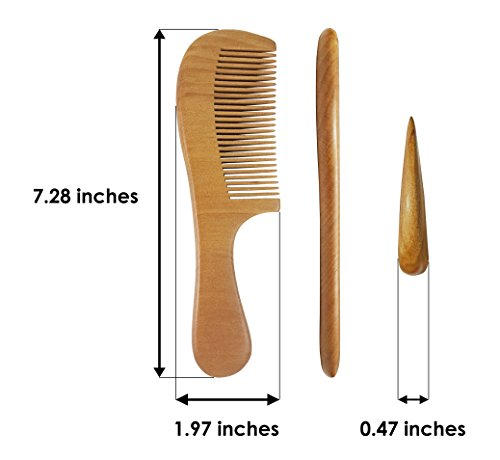 eSay Hair Comb And Brush Set For Women, Men - Hairbrush For Fine Hair And thick hair - Comb Massager Hair Growth, Wooden by eSay (Image #6)