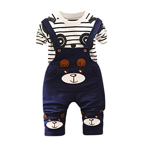 Lisin Toddler Kids Baby Boys Girls Panda Print Tops+Pants Overalls Outfit Clothes Set (Blue, (Sexy Panda Outfit)