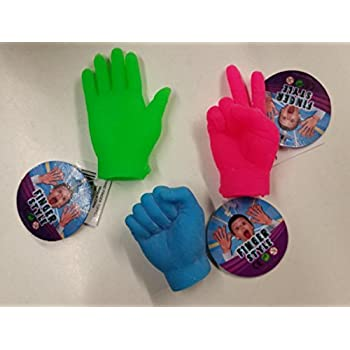 Rock Paper Scissors Finger Puppet Game - Includes 6 Total Finger Puppets (2 of Each Style)