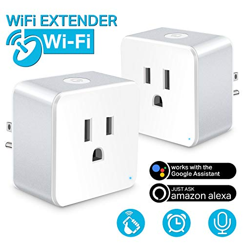 Wsky Wifi Smart Plug - Best Wireless Outlet Plug for Alexa, Google Home - You Can Turn The Light On/Off from Anywhere(A Secured 2.4 GHz Wi-Fi Network Connection Required) - 2 Pack
