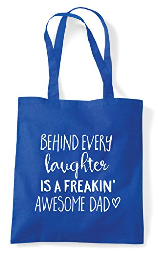Awesome Every Shopper Blue Royal Dad Freaking Laughter Family Tote Statement Bag Behind A Is gBTqn1w
