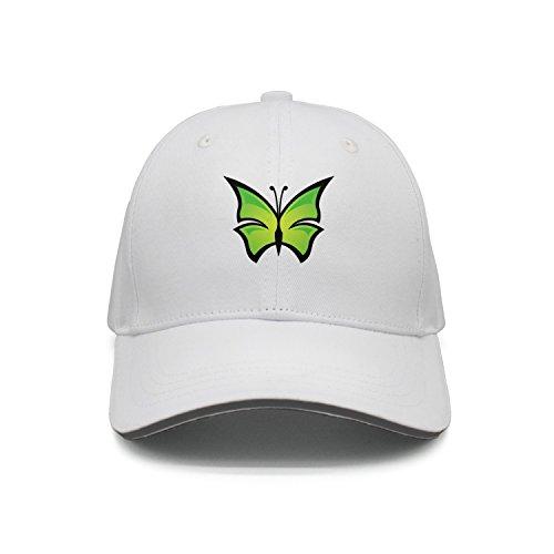 Hey-ifx Twill Sandwich Cap Green Butterfly Sillhouette Black Baseball Cap For Men & Women