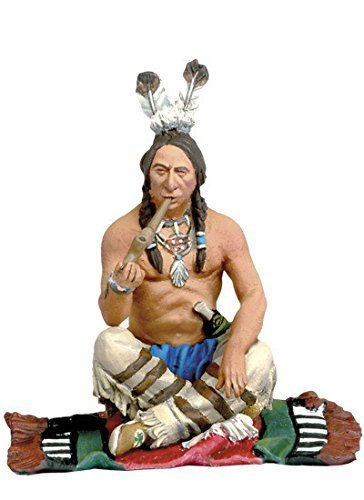 Collectible Toy Soldiers 1/32 Scale Smoking Warrior Far West Indians Custer's Last Stand Little Big Horn Black Hawk Metal Figure New in Box FW-0204 Britains Gunn King & Country Type