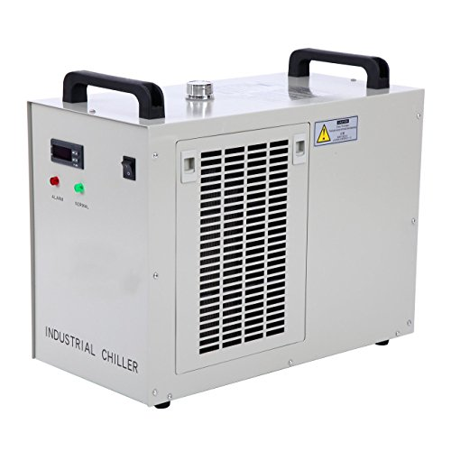 PanelTech 110V Industrial Water Chiller 9L Capacity 800W Thermolysis Cooling Chiller for CNC 80/100W CO2 Glass Tube Laser Engraver Engraving Machine