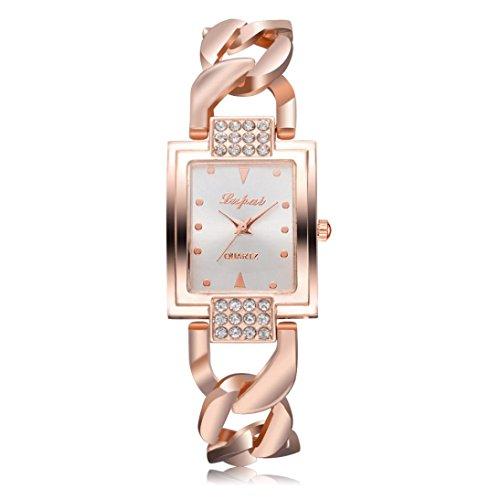 Jaylove Clearance 2018 Hot Sale Fashion Luxury Diamond Women Quartz Watches Bracelet Wrist Watch Gifts (Rose Gold1) (Quartz Watch Bracelet Bangle)