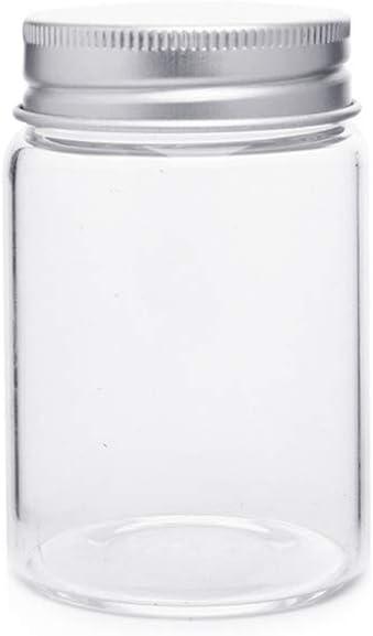 Confezione da 6 barattoli in vetro da 100 ml budino Danmu Art bottiglie di vetro vuote per yogurt con tappo in sughero