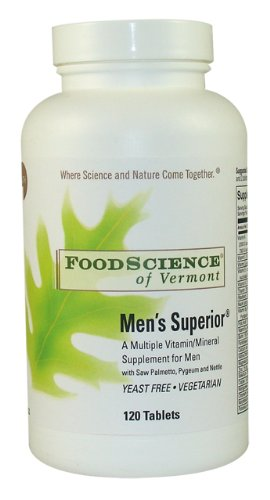Food Science Of Vermont Men's Superior Multi-Vitamin Tablets, 120 Count