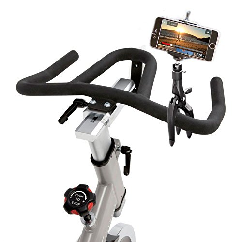 Xpack Treadmill Phone Mount Fitness Iphone Holder, Universal Cradle Clamp Fitness Machine Claw for iOS Android Smartphone