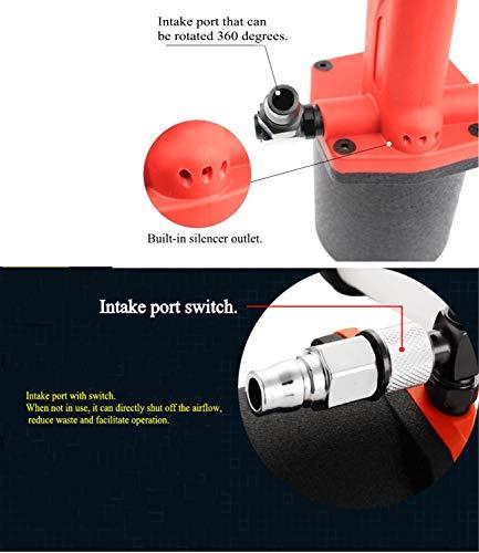 Heavy Duty Air/Hydraulic Rivet Gun professional Riveting tool 1/4'' air power tool Self Suction style and no Self Suction style (Self Suction style) by Shiningeyes (Image #4)