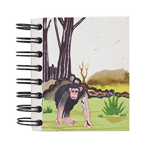 Mr. Ellie Pooh Earth Friendly Handmade Chimpanzee Lover's Pocket Notebook Journal Sketch - Earth Journal Friendly