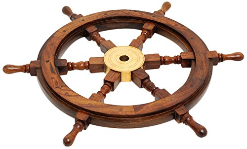 (Old Modern Handicrafts Ship Wheel, 36-Inch )