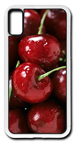 (iPhone Xs Case Cherry Fruit Genus Prunes Fleshy Drupe Wild Customizable by TYD Designs in White Plastic)