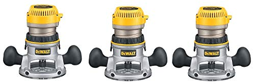 DEWALT DW616 1-3/4-Horsepower Fixed Base Router (3-Pack)