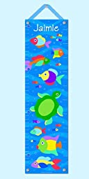 Olive Kids Personalized Somethin\' Fishy Canvas Growth Chart