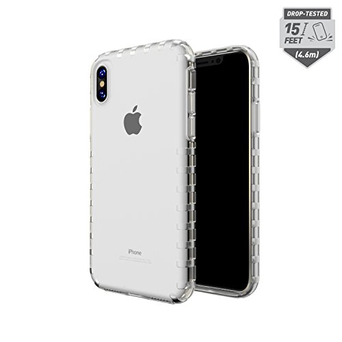 Skech Transparent 15 Foot Drop Tested Echo Case Ultra Tough Shockproof Cover Apple iPhone X - Clear (Front Sketch Cover)